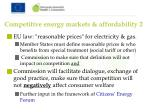 competitive energy markets affordability 2