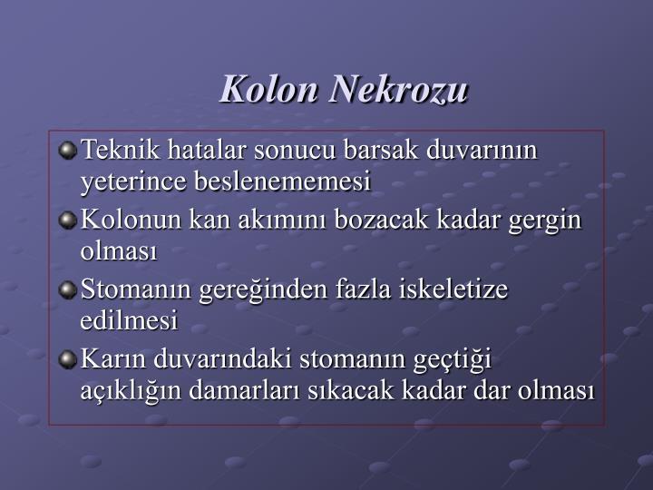 Kolon Nekrozu