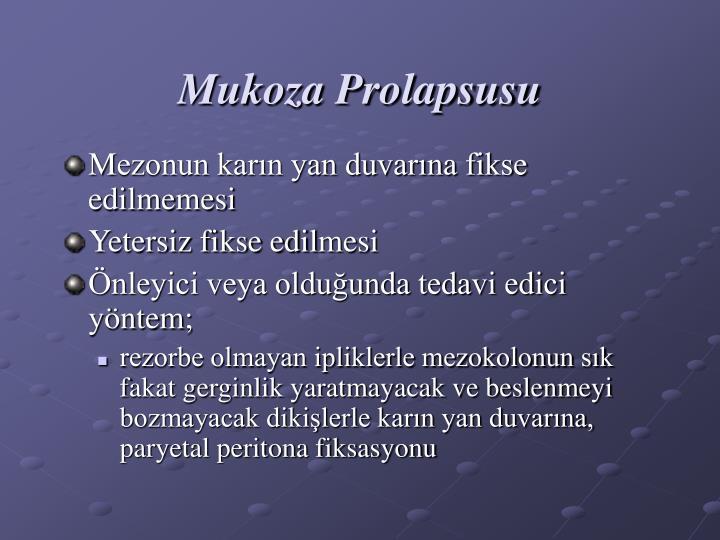 Mukoza Prolapsusu