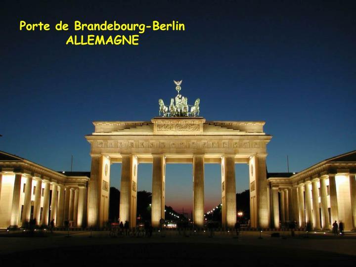 Porte de Brandebourg-Berlin