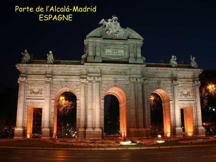 Porte de l'Alcalá-Madrid