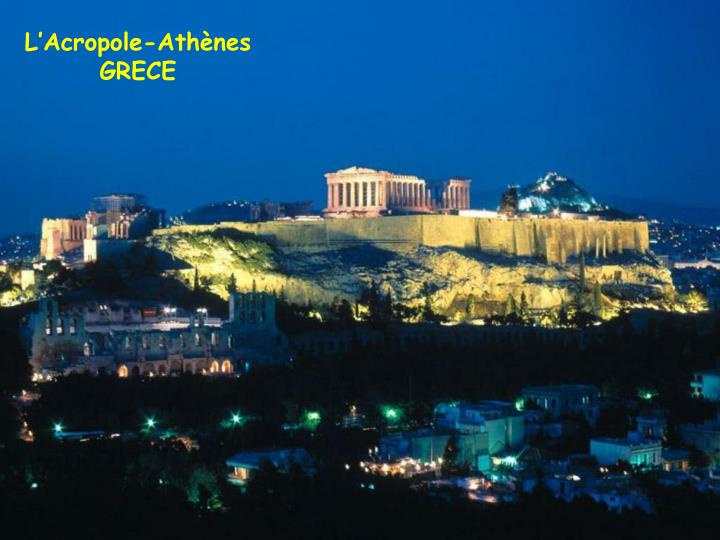 L'Acropole-Athènes GRECE
