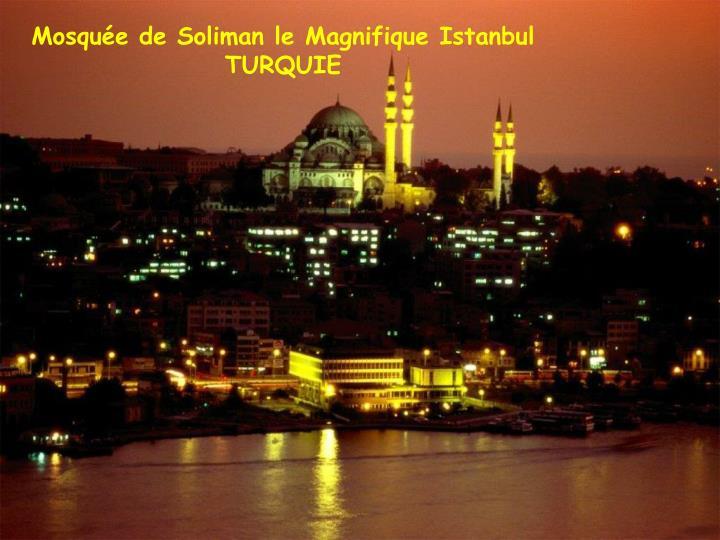 Mosquée de Soliman le Magnifique Istanbul