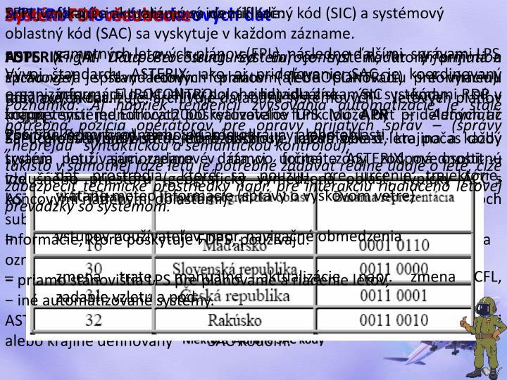 ASTERIX - formát radarových dát