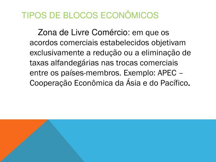 Tipos de blocos econômicos