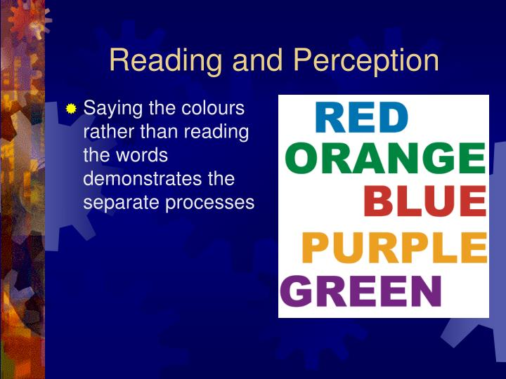 Reading and Perception