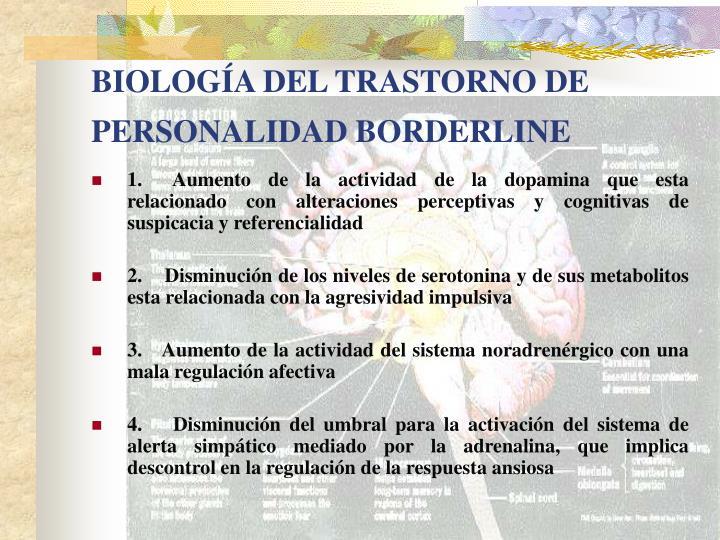 BIOLOGÍA DEL TRASTORNO DE PERSONALIDAD BORDERLINE