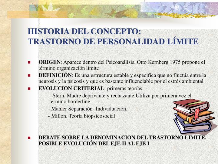 HISTORIA DEL CONCEPTO: