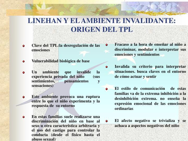 Clave del TPL:la desregulación de las emociones