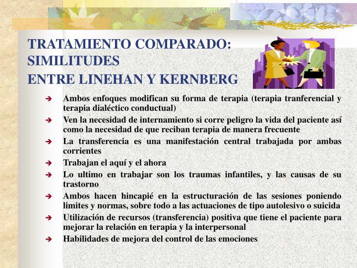 TRATAMIENTO COMPARADO: