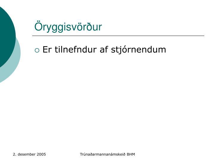 Öryggisvörður