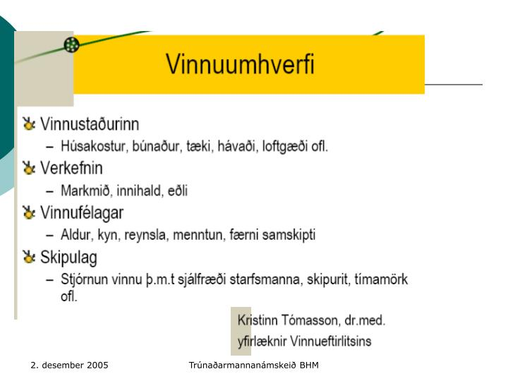 Trúnaðarmannanámskeið BHM