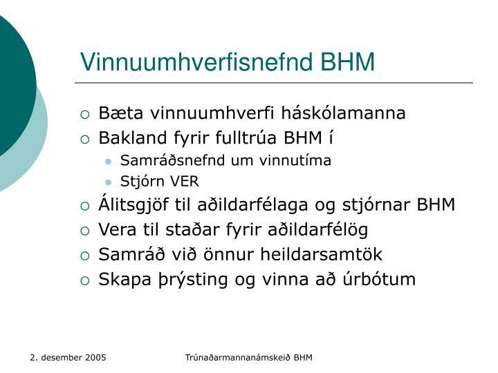 Vinnuumhverfisnefnd BHM