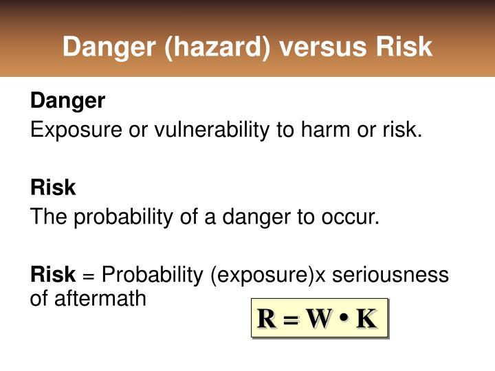 Danger (hazard) versus Risk