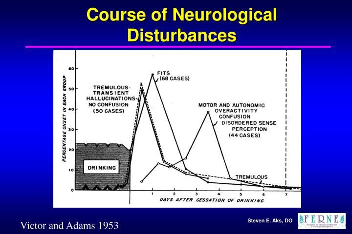 Course of Neurological Disturbances