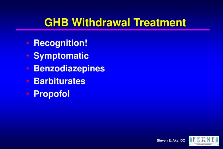 GHB Withdrawal Treatment
