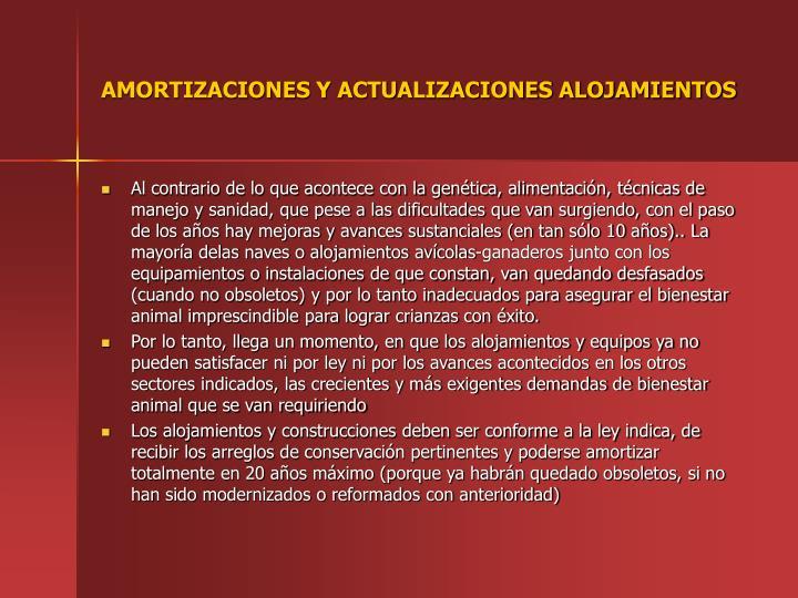 AMORTIZACIONES Y ACTUALIZACIONES ALOJAMIENTOS