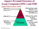 japan s pyramid structure of large companies mnc and sme