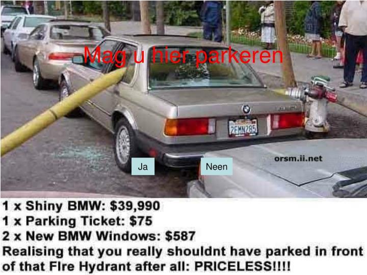 Mag u hier parkeren