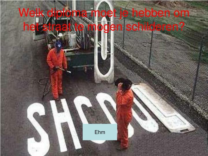 Welk diploma moet je hebben om het straat te mogen schilderen?