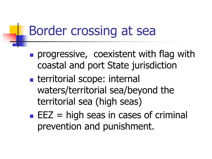 Border crossing at sea