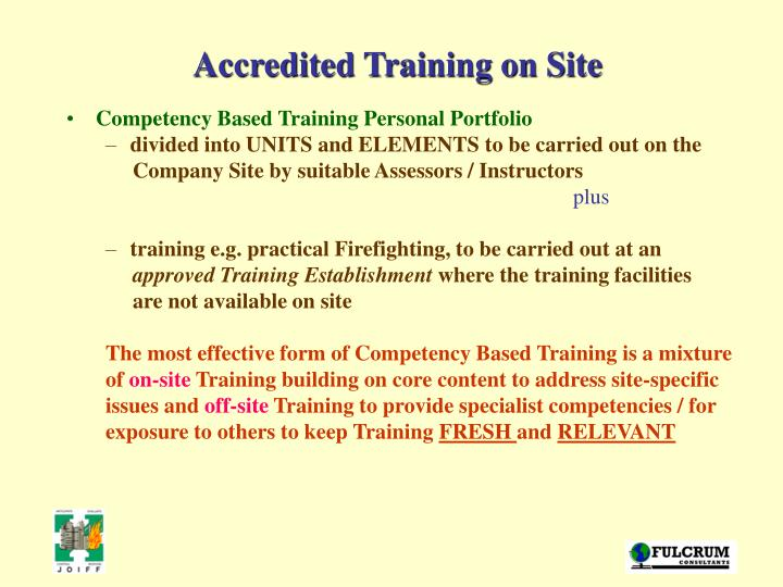 Accredited Training on Site
