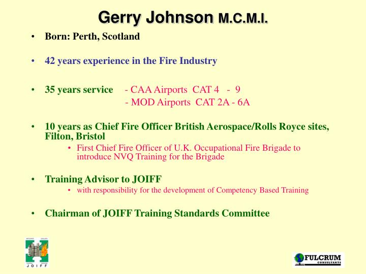 Gerry johnson m c m i