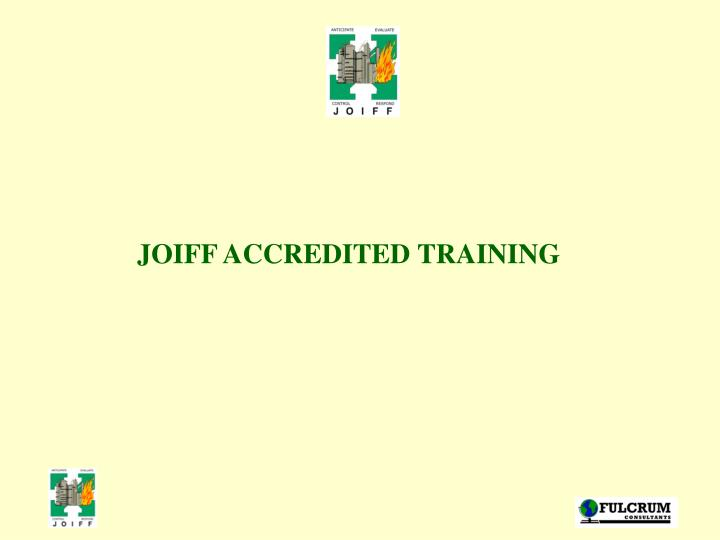 JOIFF ACCREDITED TRAINING