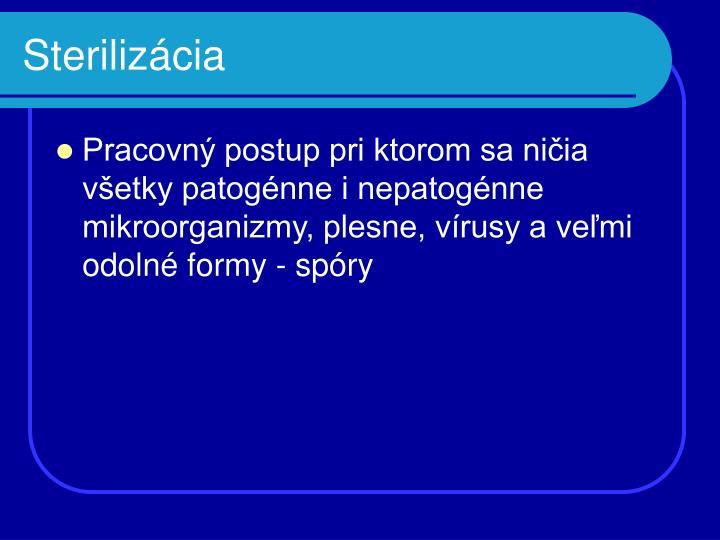Sterilizácia