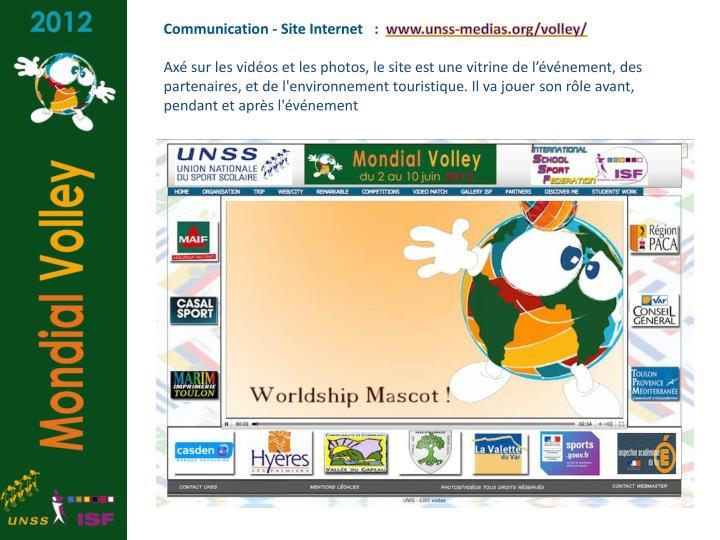 Communication - Site Internet   :