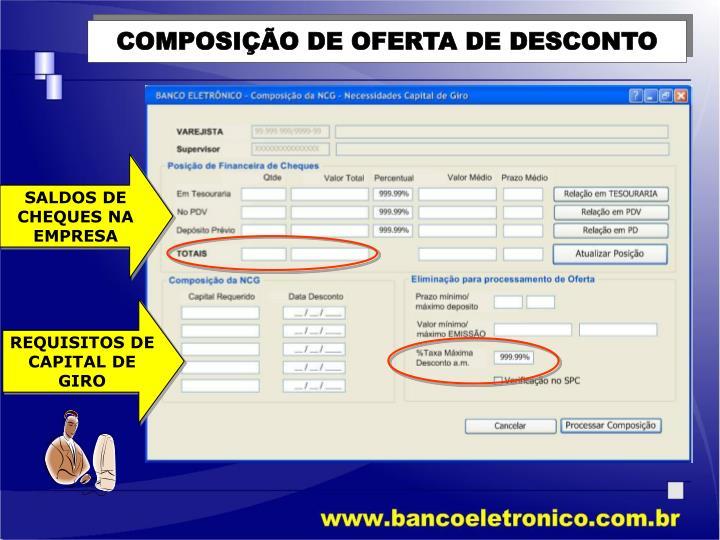 COMPOSIÇÃO DE OFERTA DE DESCONTO