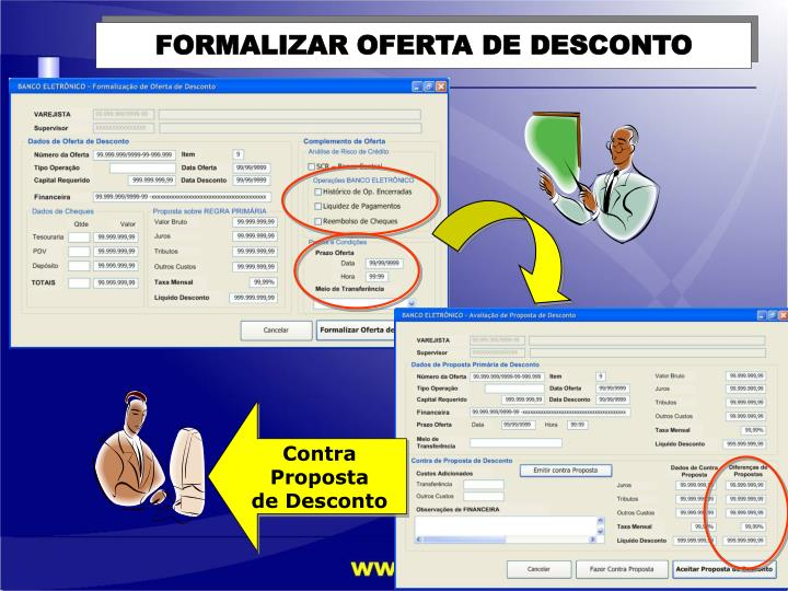 FORMALIZAR OFERTA DE DESCONTO