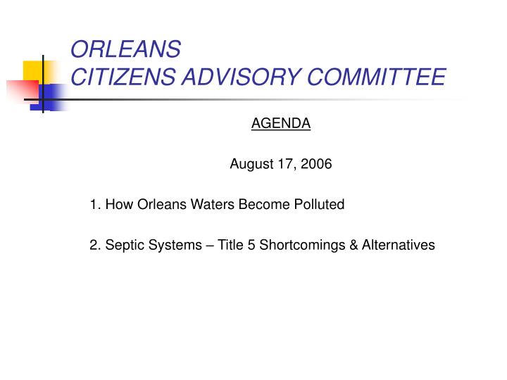 Orleans citizens advisory committee2
