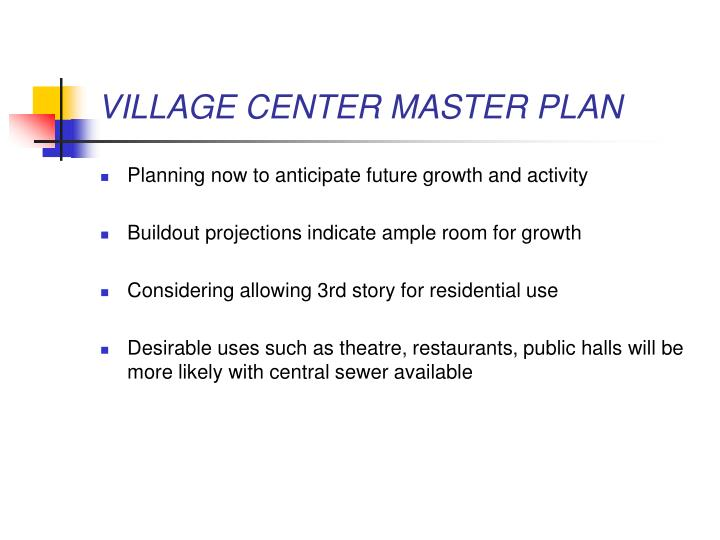 VILLAGE CENTER MASTER PLAN