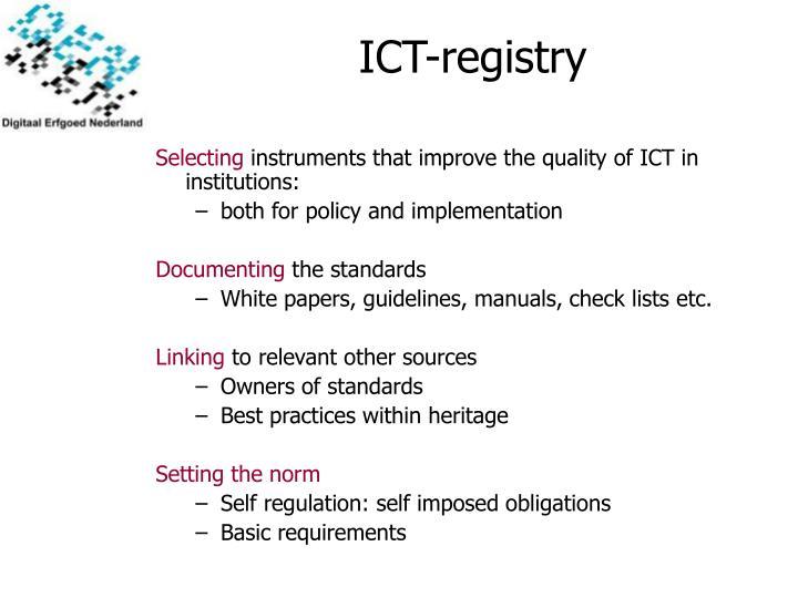 ICT-regist