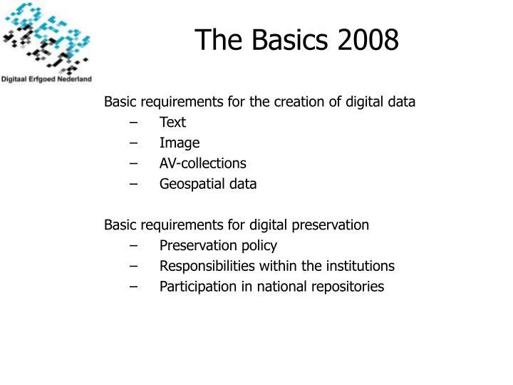 The Basics 2008