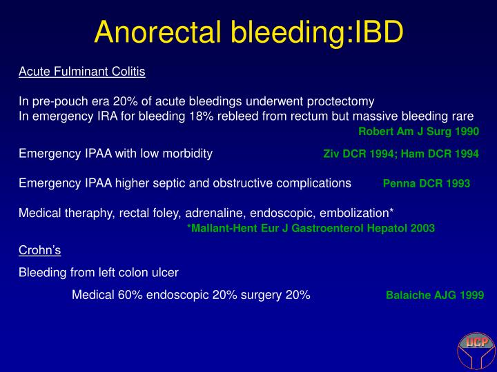 Anorectal bleeding:IBD