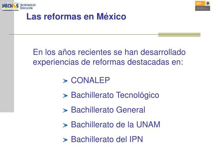 Las reformas en México