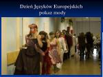 dzie j zyk w europejskich pokaz mody