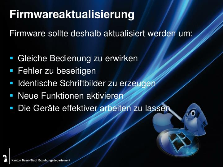 Firmwareaktualisierung