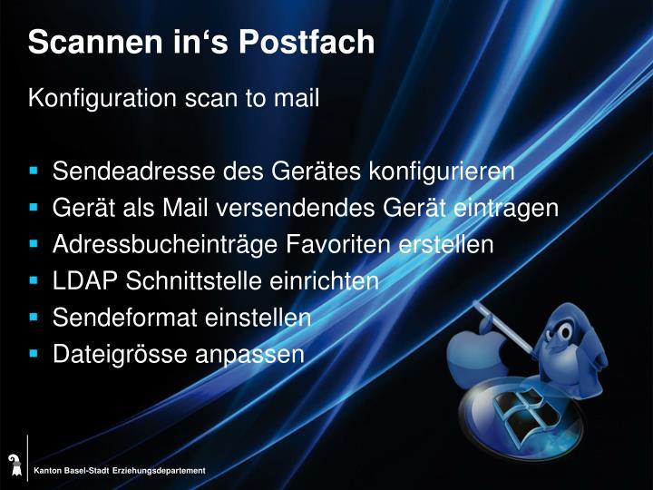 Scannen in's Postfach