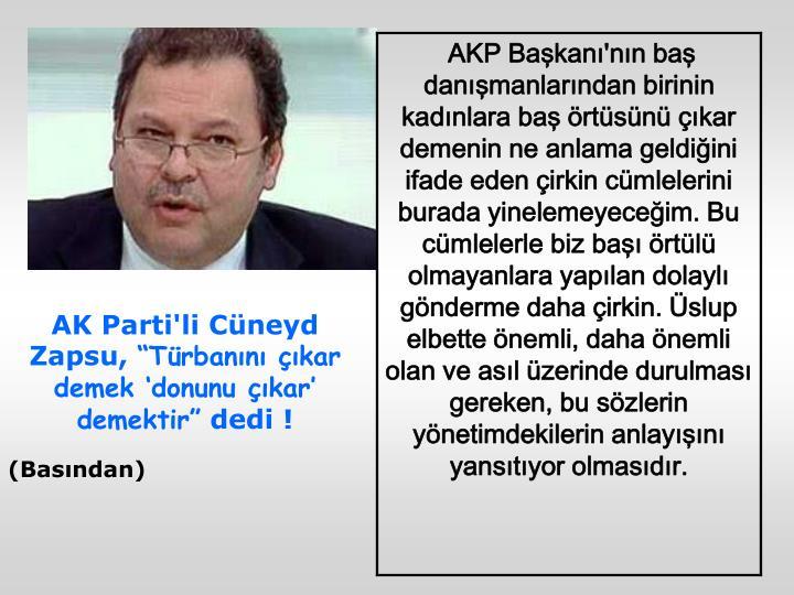 AK Parti'li Cüneyd Zapsu,