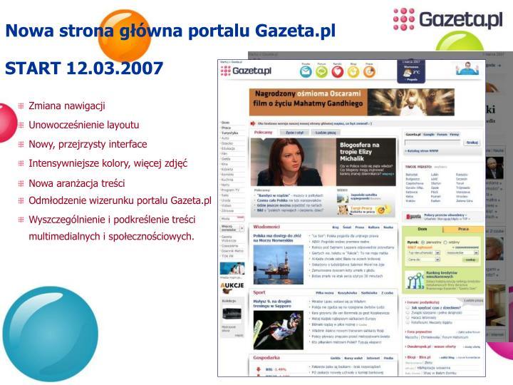 Nowa strona główna portalu Gazeta.pl