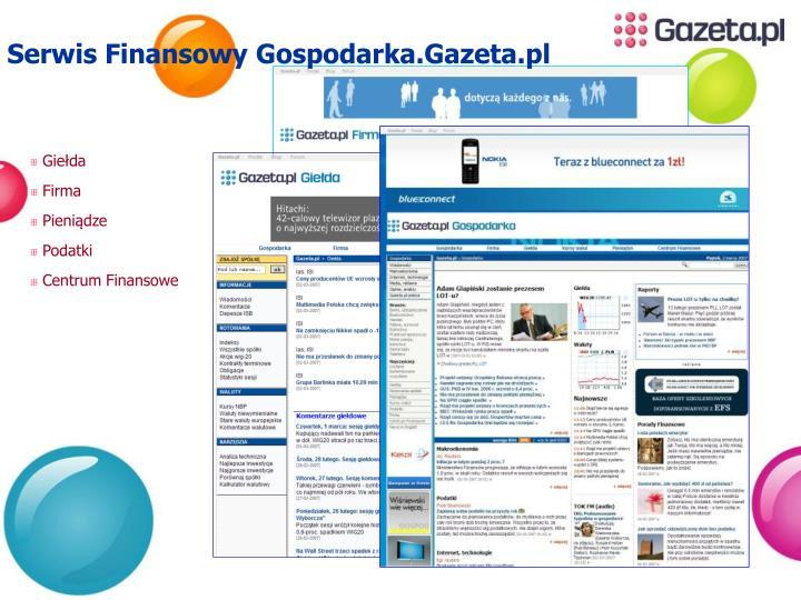 Serwis Finansowy Gospodarka.Gazeta.pl