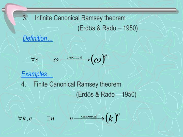 Infinite Canonical Ramsey theorem