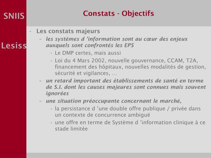 Constats - Objectifs
