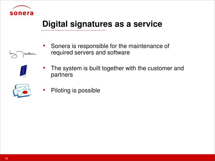 Digital signatures as a service