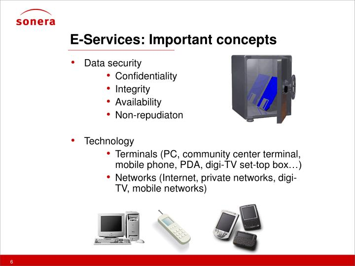 E-Services: Important concepts