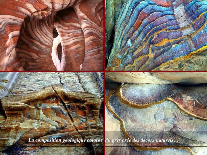 La composition géologique colorée
