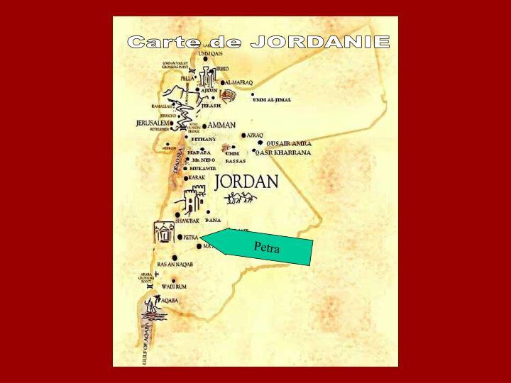 Carte de JORDANIE